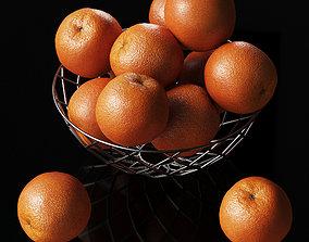 Oranges citrus fruits 3D model