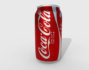 Coca-Cola Can 3D model low-poly