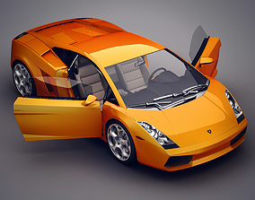 Lamborghini Gallardo with interior 3D