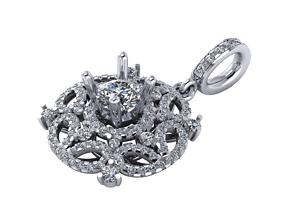 Diamond Pendant for Girl 3D printable model
