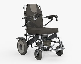Lite powered folding wheelchair 3D model