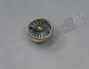 Cufflinks jewelry Aeroplanes Turbine design 3D print model