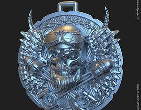 Biker skull vol3 pendant jewelry 3D printable model