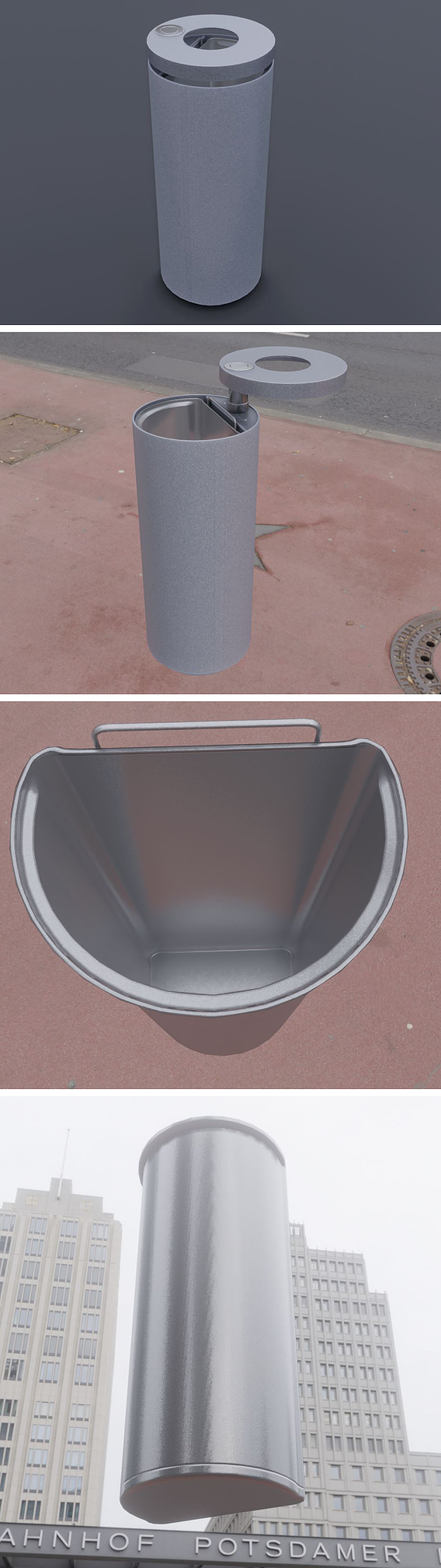 Animated Trash Can Low-Poly Version-1
