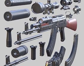 3DRT - Modern firearms HD - AK 47 animated