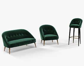 Brabbu Malay armchair sofa and bar chair 3D