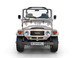 3D Toyota Land Cruiser FJ 40 Top Down with Interior