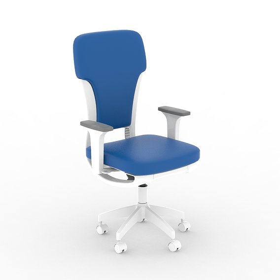 Blue and White Color Headscale Official Chair