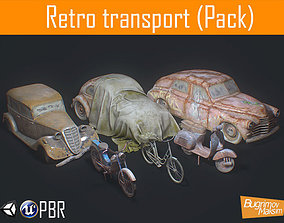 Retro Transport Pack 3D model