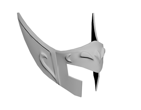 Saint Seiya Aquarius Gold Helmet 3D print model