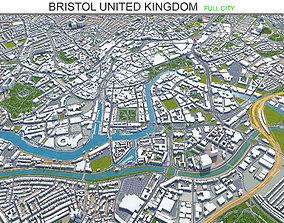 3D model Bristol United Kingdom 35km