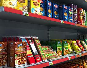 3D Supermarket Shelves Pack