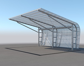 Carport Design With Steel Construction 2 3D model