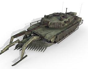 3D asset Tank Abrams MinePlow Extra Defense Desert USA