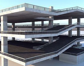 Multi - Storey Car Park - Floor Parking 3D asset