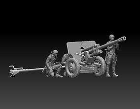 ussr soldiers ZIS-3 3D printable model