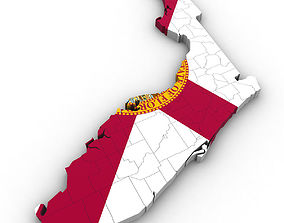 Florida Political Map 3D