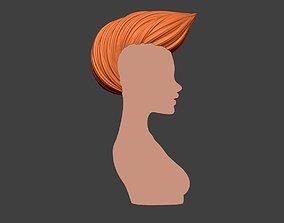 Female Hair 4 3D printable model