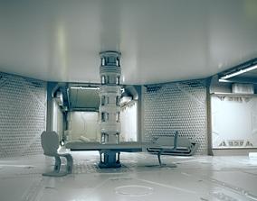 Sci-fi interior Scene for renders 3D model VR / AR ready