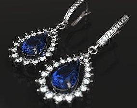 3D printable model Blue drop earrings