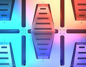 Stage Decor 34 Modular Wall Column 3D