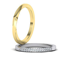 cad Mobius Wedding Ring 3dmodel Two versions