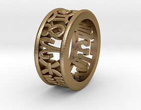 3D printable model 53size Constellation symbol ring