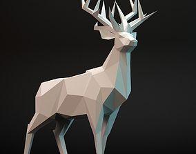 deer lowpoly 3D model