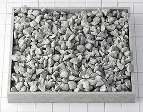 Stone crash rectangle form 3D model
