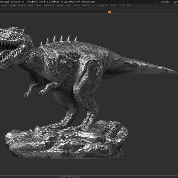 dinosaur trex  3d print model