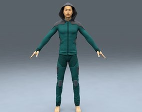 3D model male hoodie tracksuit