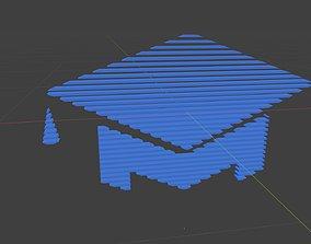 Low poly Education symbol 1 3D asset