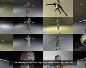 3D model Jack Skellington-Sally from Nightmare before