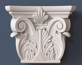 3D model Pilaster Capital carved