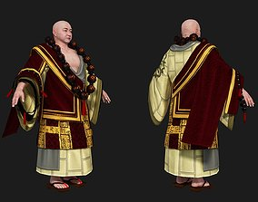 3D model Fat monk in ancient China master Buddhist Abbot