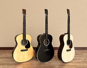 Acoustic Guitars 3D model