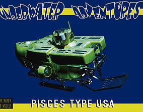Deep Sea sub Pisces 3D model