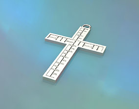 Model 67 Cross Christian Necklace Embossed Texture