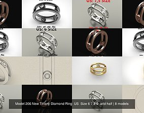 Model 206 New Tiffany Diamond Ring US Size 6 7 8 9 and