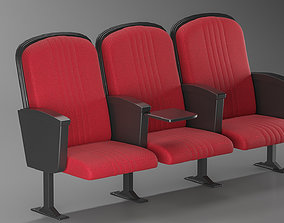 Cinema Seating Chair 3D model realtime