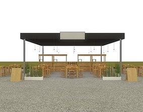 tent cafe tenda 3D model