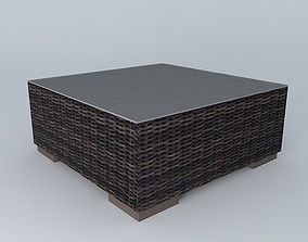 Coffee table BALI houses the world 3D