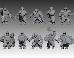 Mechanized Ogres 3D print model
