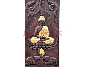 3D print model Wood Gold Buddha