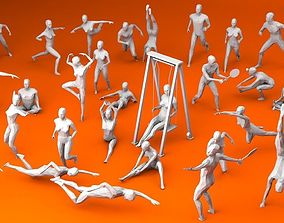 31 Sport and Outdoors Activities People 3D asset 1