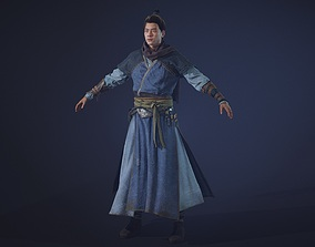 Chinese Swordman 3D model VR / AR ready