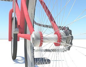 3D asset bmx bicycle