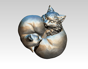 Cats couple 3D printable model