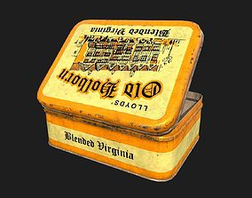 3D asset game-ready Old Tobacco Tin - Old Holborn