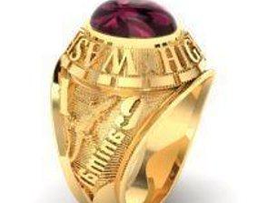 sapphire 3D printable model ring men